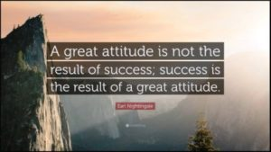 Right Attitude leads you to success